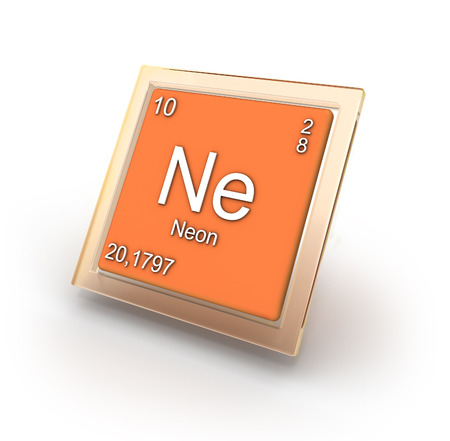 ne: Neon chemical element sign