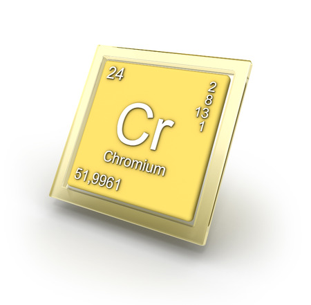 Chromium chemical element sign   part of collection  photo