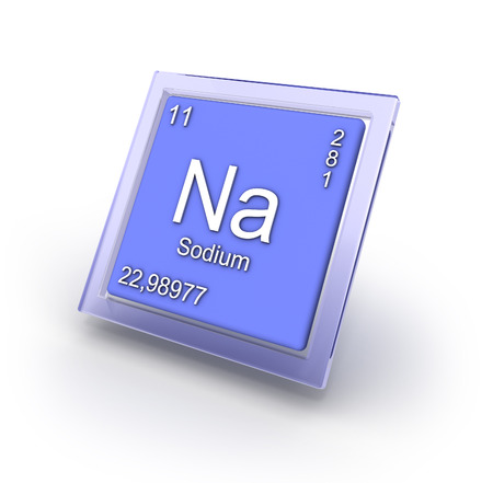Sodium chemical element sign   part of collection  photo