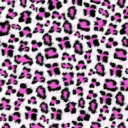 ピンクのヒョウのシームレスな背景