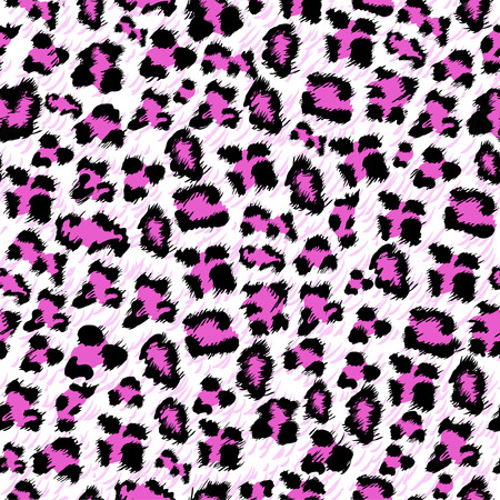 Pink leopard seamless background Vector