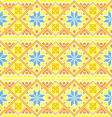 Seamless background in folk ukrainian style Vector