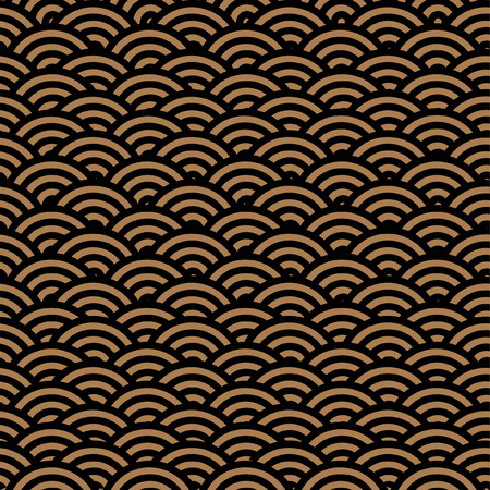 Seamless background with waves Vector