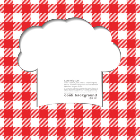 recipe card: Background with tablecloth in Italia style