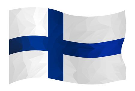 Polygon design of Finlandia flag