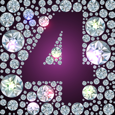 Illustration of inverse diamond number four Vector
