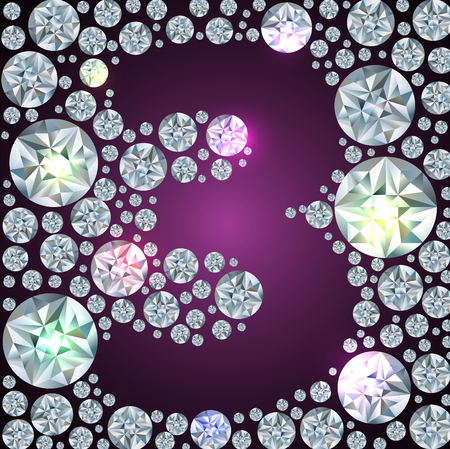 inverse: Illustration of inverse diamond number three Illustration