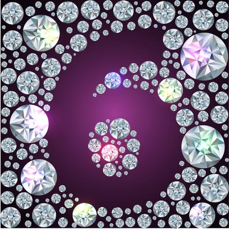 Illustration of inverse diamond number six Illustration