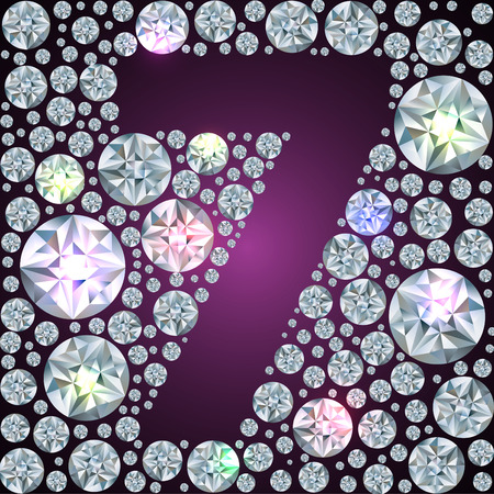 Illustration of inverse diamond number seven Vector