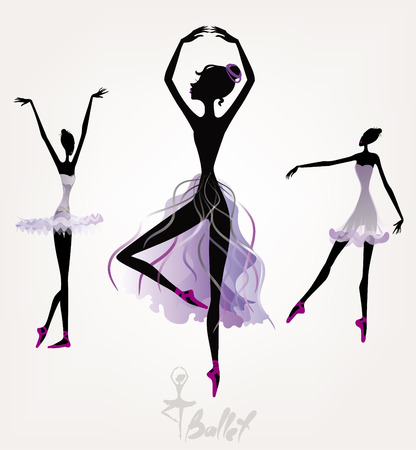 Ballet dancers, set of illustrations