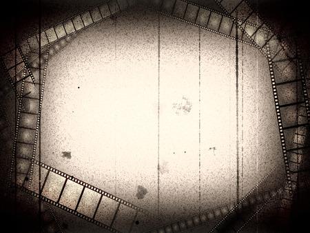 cine: Vieja pel�cula en blanco y negro con el marco vac�o pel�culas Foto de archivo