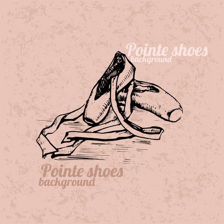rosa negra: Pointe zapatos fondo