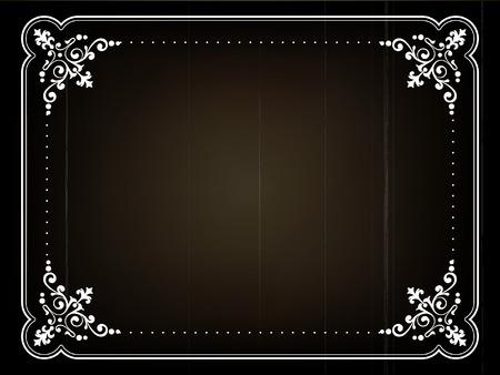 Old movie title frame