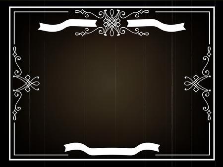 silent: Old movie title frame