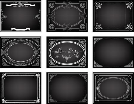 CINE: Conjunto de nueve títulos de fotogramas de la película silenciosa antiguas