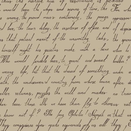 Seamless calligraphic hand writen vintage pattern