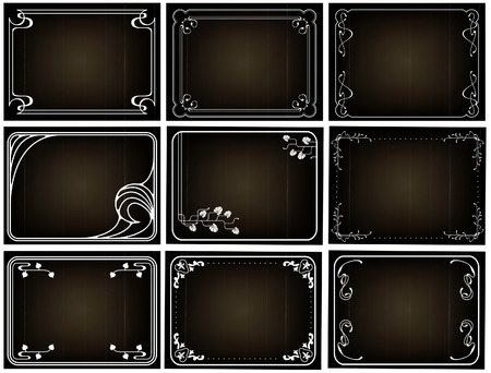 Old silent movie frames in art nouveu style