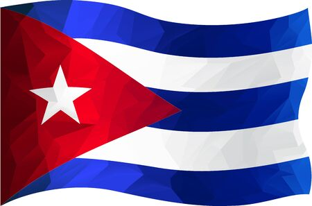 cuba flag: Cuba flag in triangle design Illustration