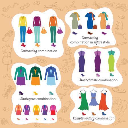 analog�a: Combinaciones de colores en la moda