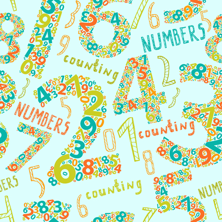 numbers: Seamless background with numbers