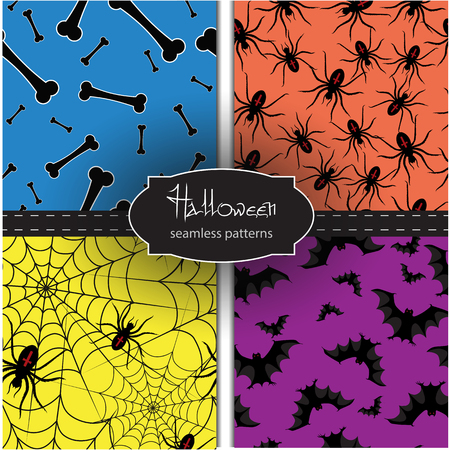cobwebby: Set of seamless  backgrounds with Halloween elements