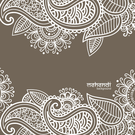 mehendi: Illusrtation with mehendi drawing