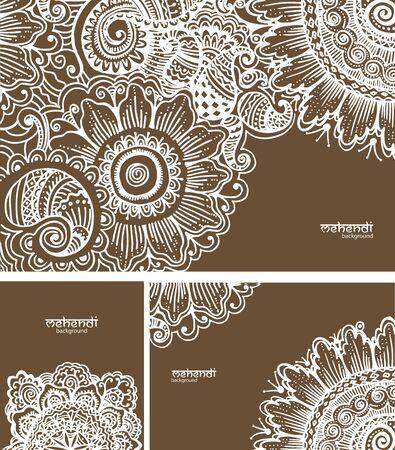 mehendi: Illusrtation with mehendi drawing