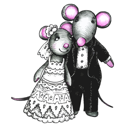 cute love: Cute mouses in love