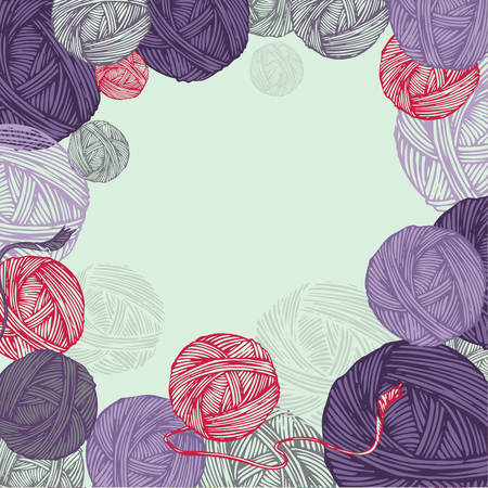 skein: Background with clews