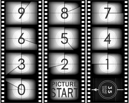 Set Zahlen von alten mowie Countdown (von neun auf Null)