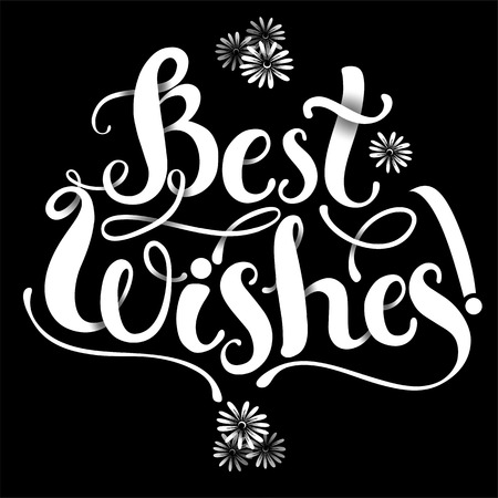 regard: Positive Lettering composition Best WIshes on grey background