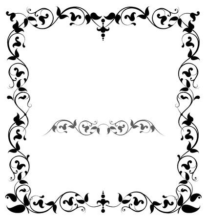 filigree: Floral filigree frame