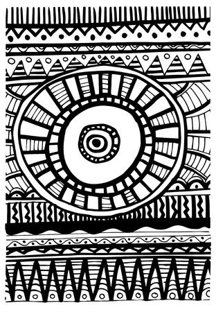 nomad: Tribal abstract pattern Illustration