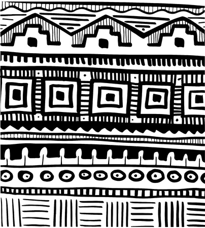nomad: Tribal african abstract pattern