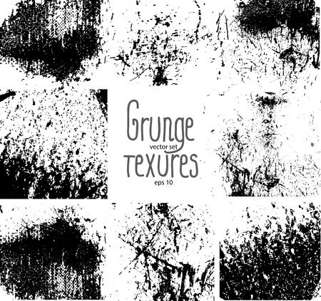 Set of grunge textures