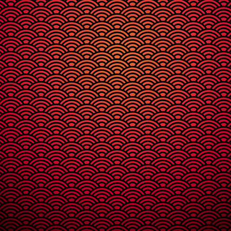 Cuinese pattern red background Illustration