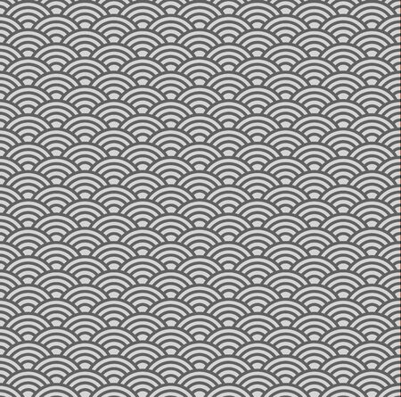 billow: Seamless china traditional background with waves in grey coloring