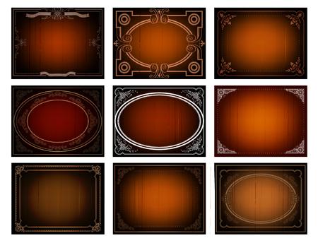 fotogramma finale La Fine, sfondo cinema in stile vintage e la colorazione marrone