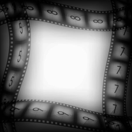screenplay: Old silent movie films vintage background with free space inside, illustration for you designs on movies theme