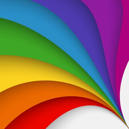spectral: Abstract colorful backdrop with twisted forms, vector graphic includes spectral rainbow colors as red, orange, yellow, green,  blue deep blue and violet. Illustration