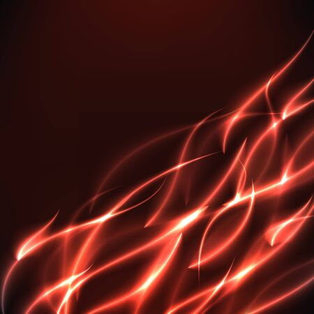 flame burn: Burn flame fire diagonal vector background with free space inside