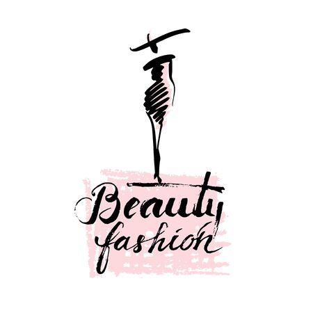 modelos negras: Belleza y la manera de la señora Vectores