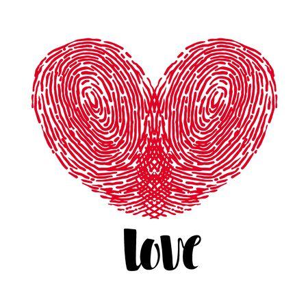 Fingerprint Love Heart.