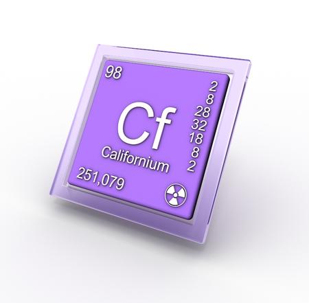 affinity: Chemical element Californium Stock Photo