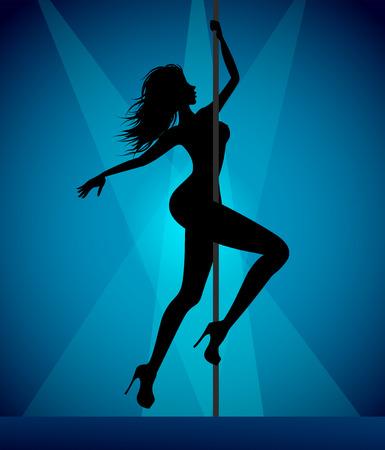 harmonous: Pole dancer girl