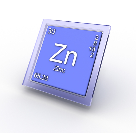 radium: Zinc chemical element sign