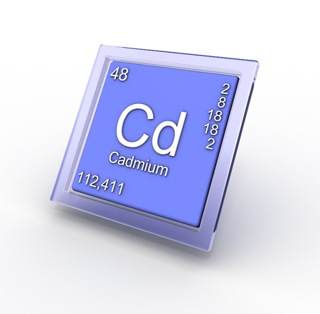 radium: Cadmium  chemical element sign Stock Photo