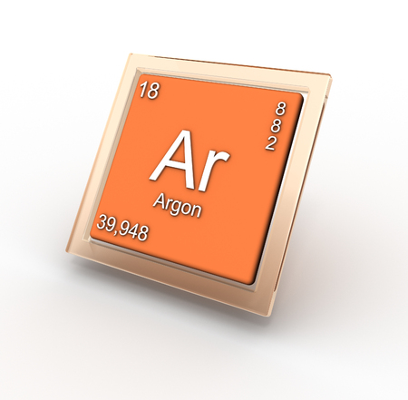argon: Argon chemical element sign Stock Photo