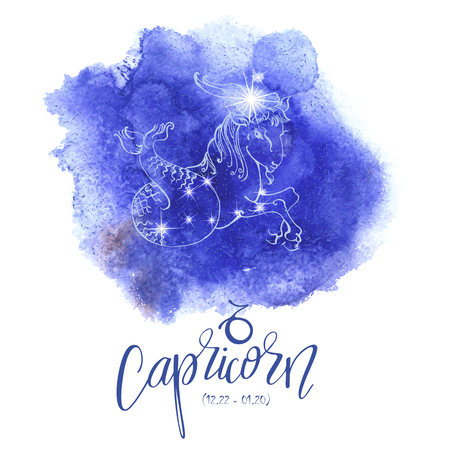 Astrology sign Capricorn Imagens - 74625036