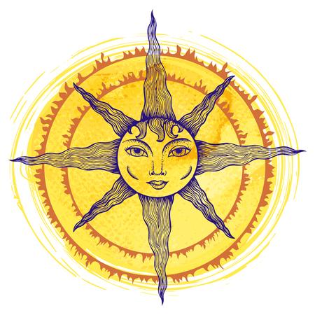 Illustration of a sun Illustration
